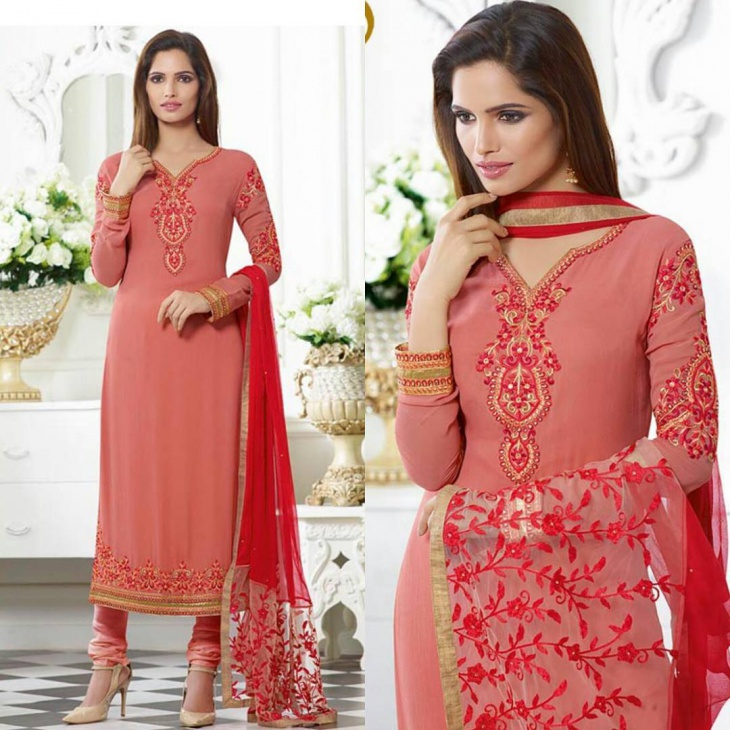 churidar v shape neck design
