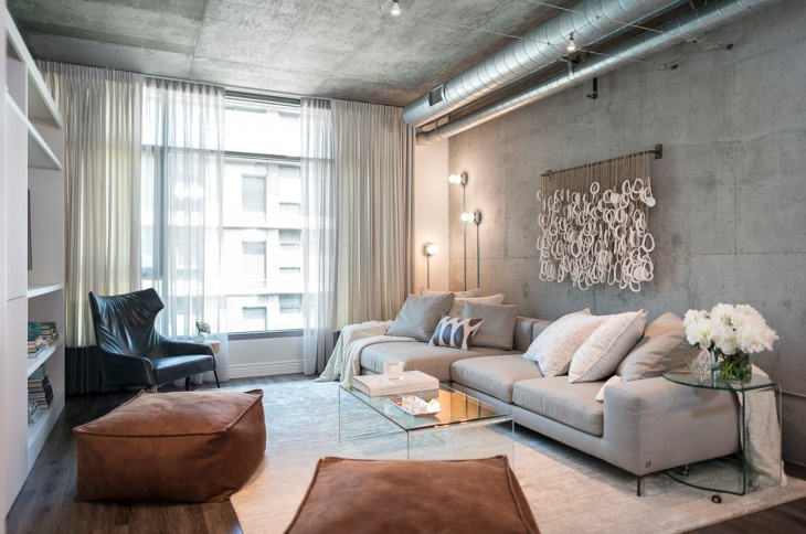 concrete living room design