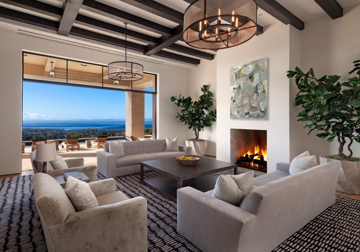 Lavish Mediterranean Living Room