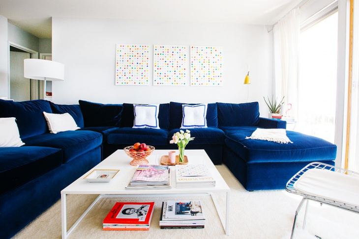 navy blue couch design for family room