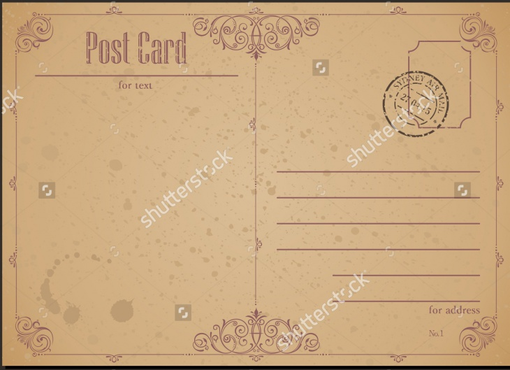 Vintage Postcard and Postage Stamp Texture