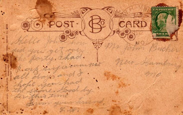 Hi Quality Vintage Postcard Textured