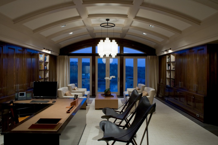 Large Classy Home Office Design
