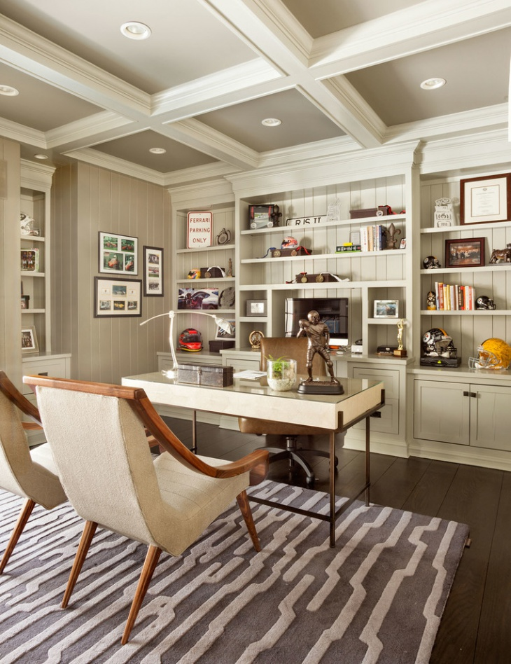 Home Library Decorating Ideas: 21+ Home Office Designs, Decorating Ideas