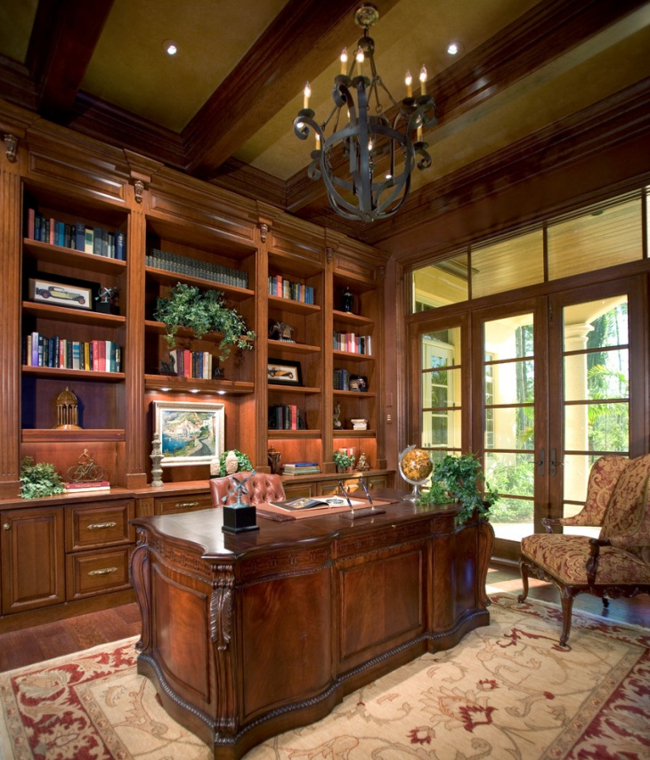 classy home office with book shelves build home office furniture