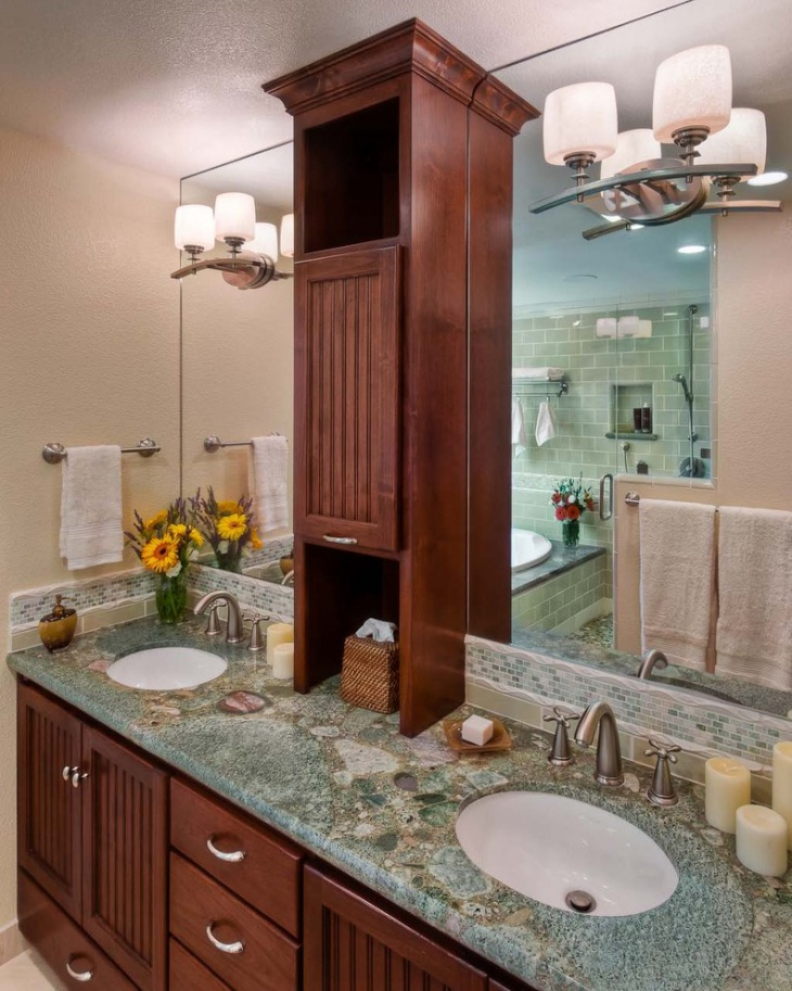 Bathroom Vanity Tower Ideas : Granite bathroom countertop designs ideas plans