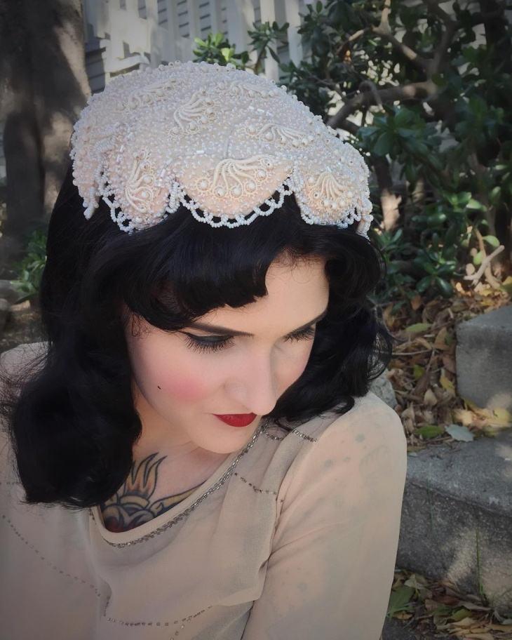 Vintage Wedding Hair and Makeup for Bride