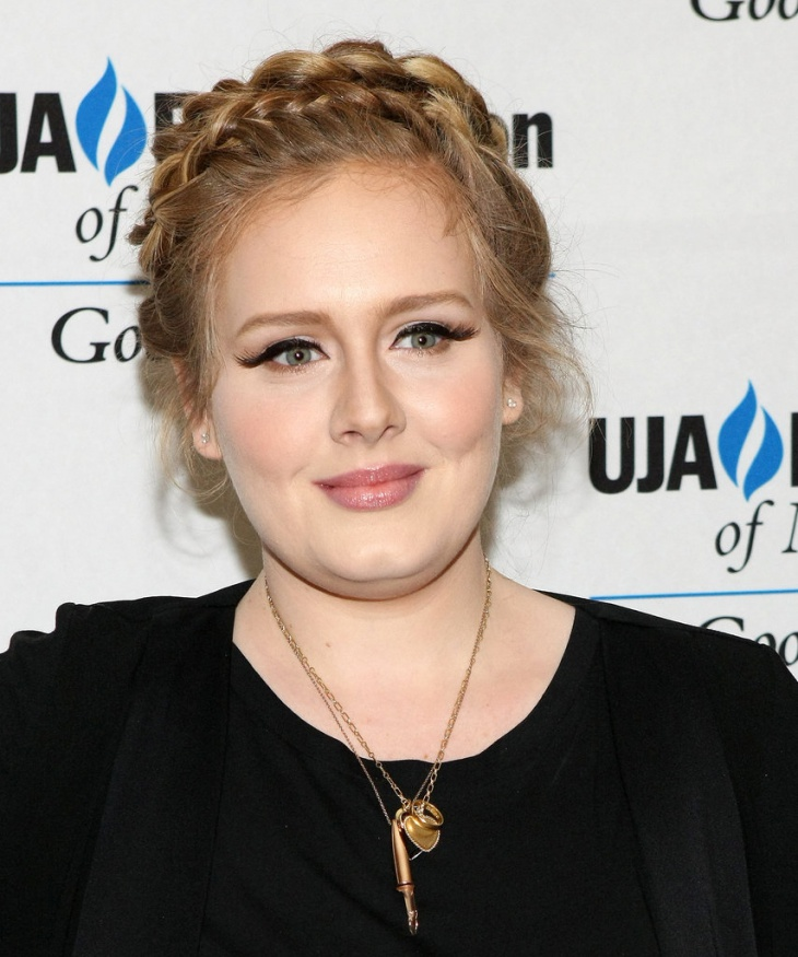 adele rope braid around head