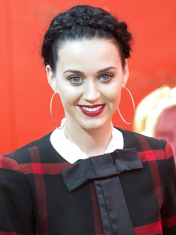 katy perry twisted rope braid bun