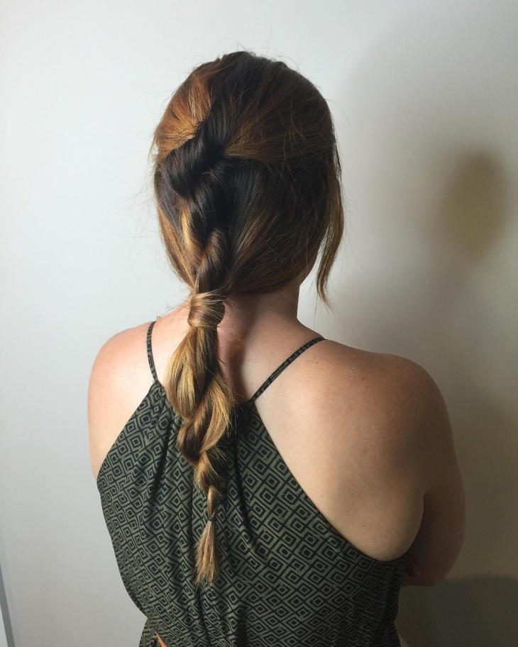 loose twisted rope braid