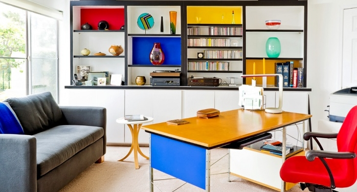 Modern Colorful Home Office Designs