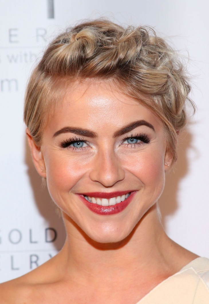 jullian hough short braid hair updo