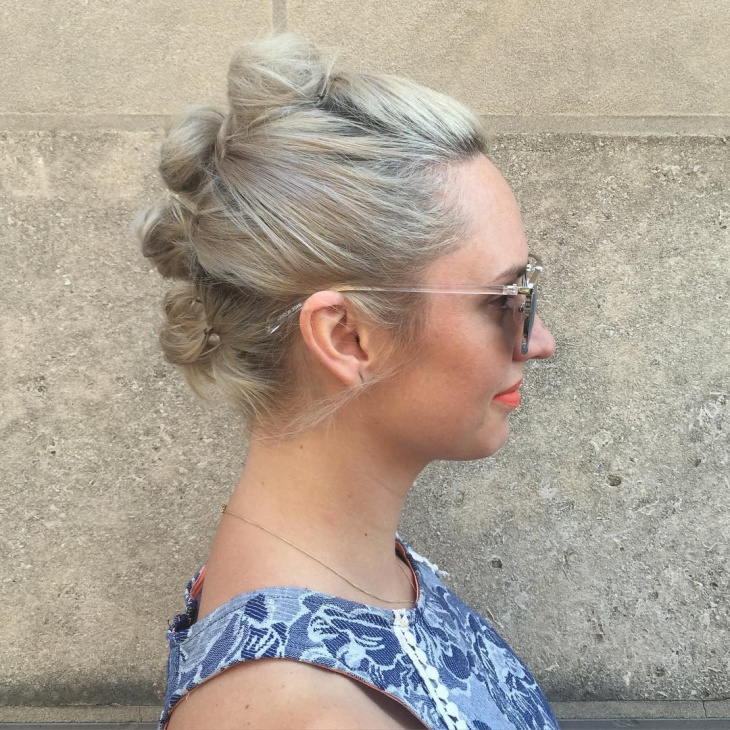 short topknot hair updo
