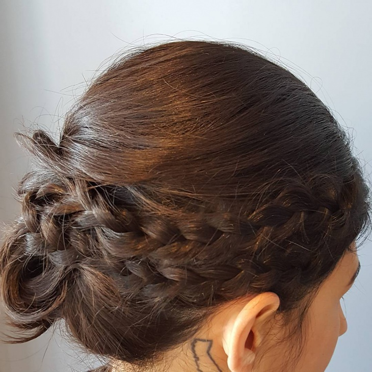 double braid hairstyle for short hair