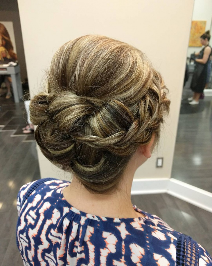 pretty short hair updo
