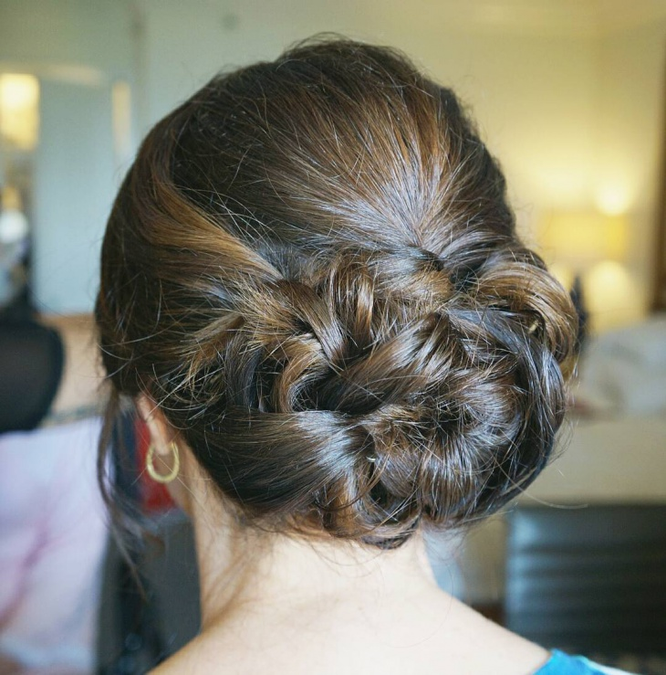 curls bridesmaid hair updo