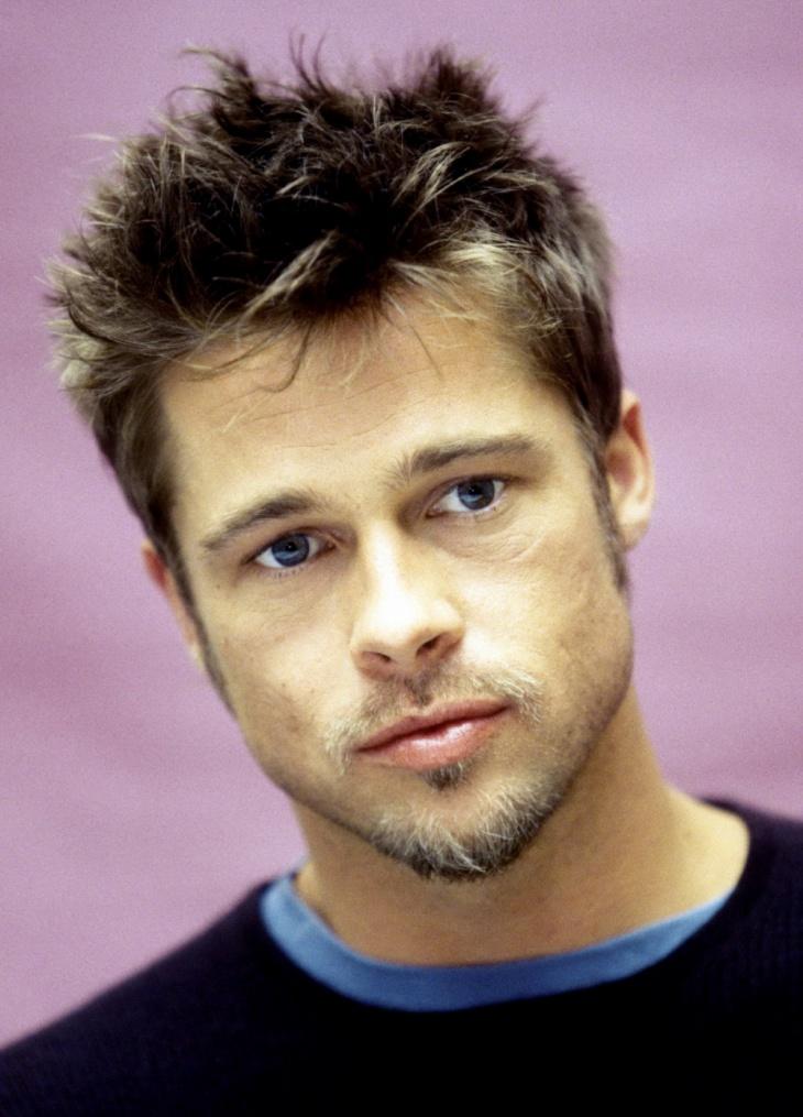 Brad Pitt Short Quiff Haircut