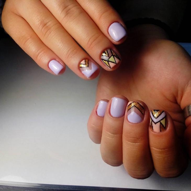 geometric nail design for short nails