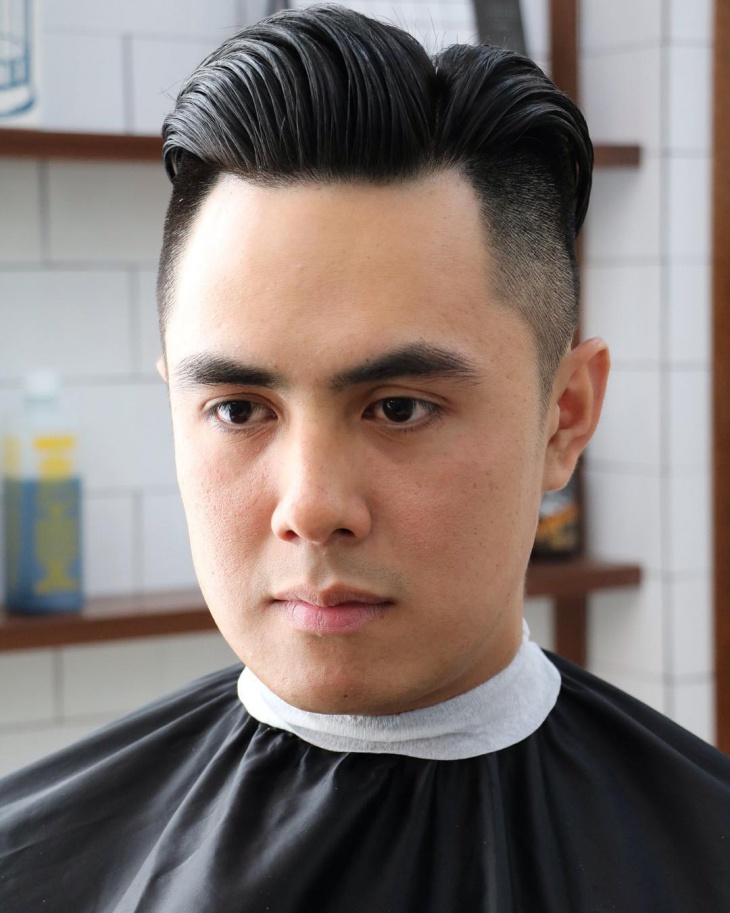 clean combover quiff haircut