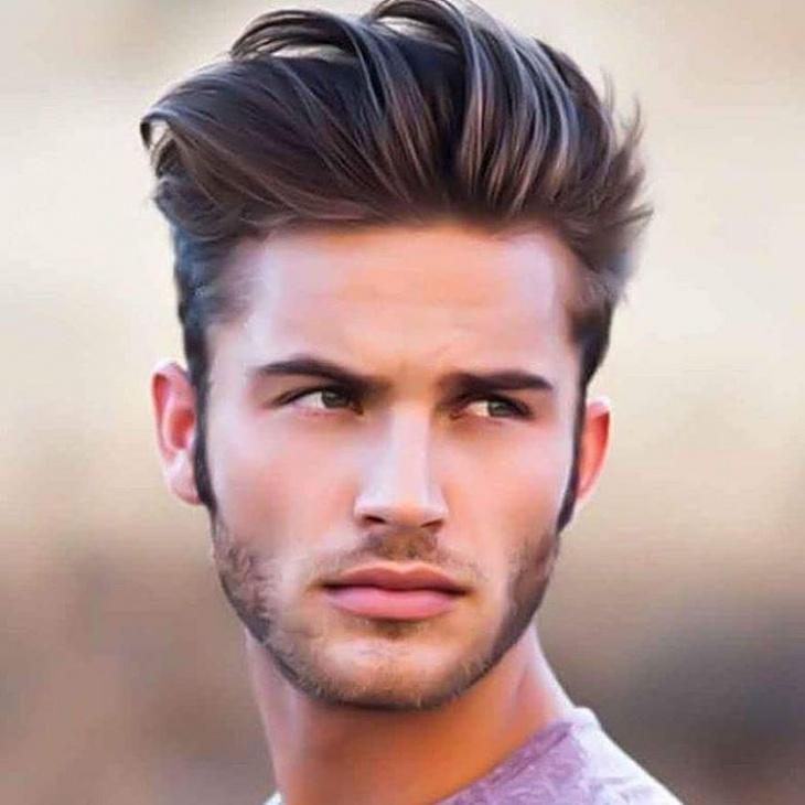 Quiff Hairstyle for Medium Hair