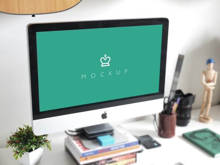 Free iMac Psd Mockup
