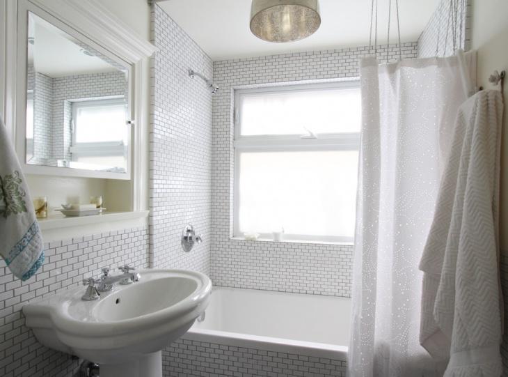 White Designed Bathroom