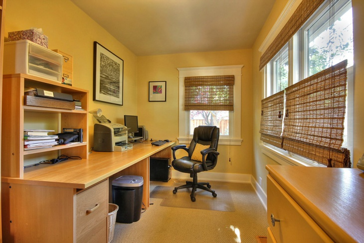 21 yellow home office designs decorating ideas design for Craftsman style office