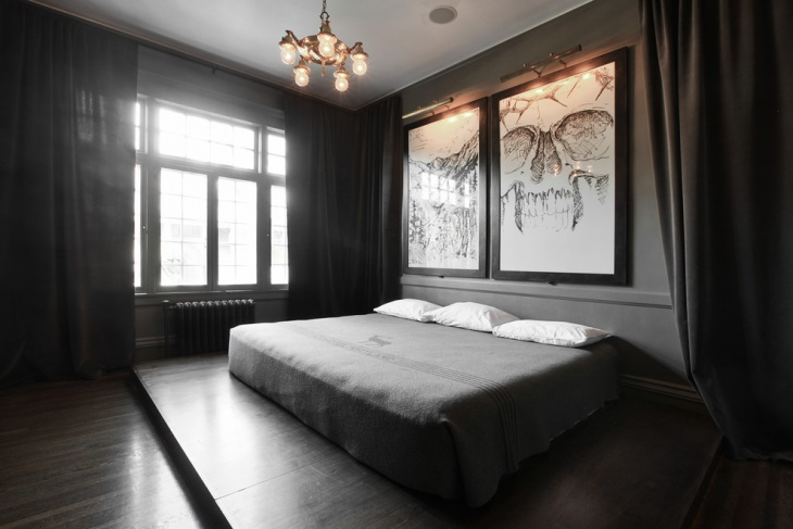 contemporary gothic bedroom idea2