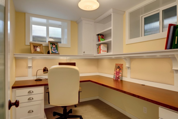 White and Yellow Home office