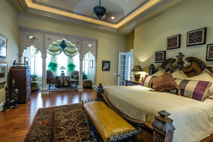 eclectic style gothic bedroom design idea