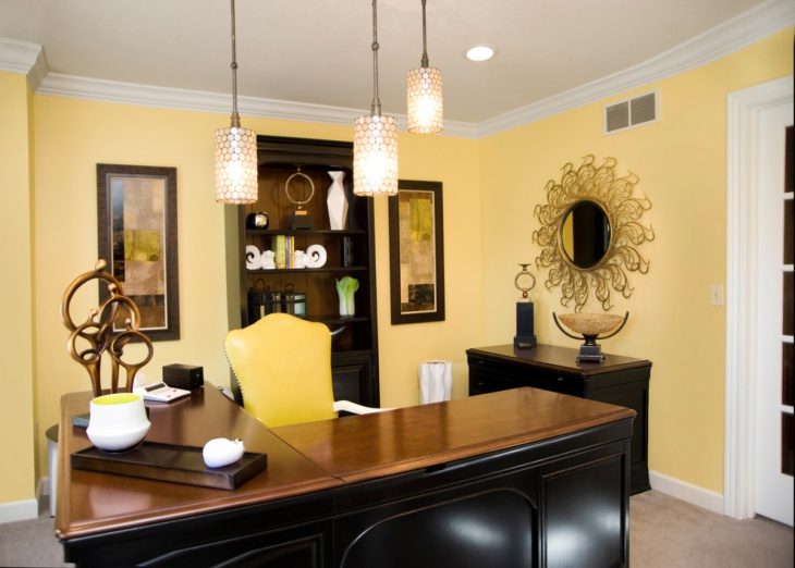 21 Yellow Home Office Designs Decorating Ideas Design