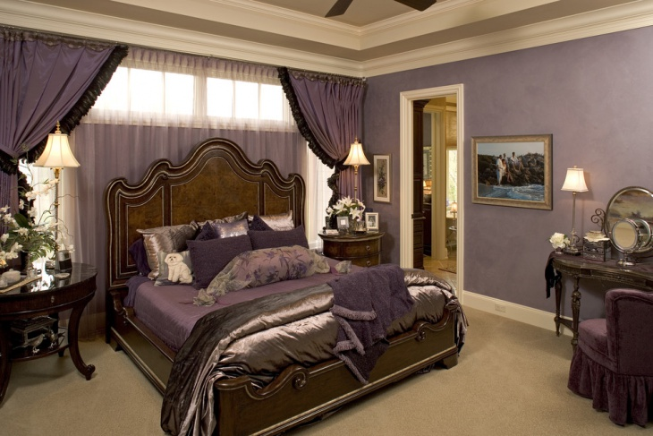Purple Color Gothic Bedroom
