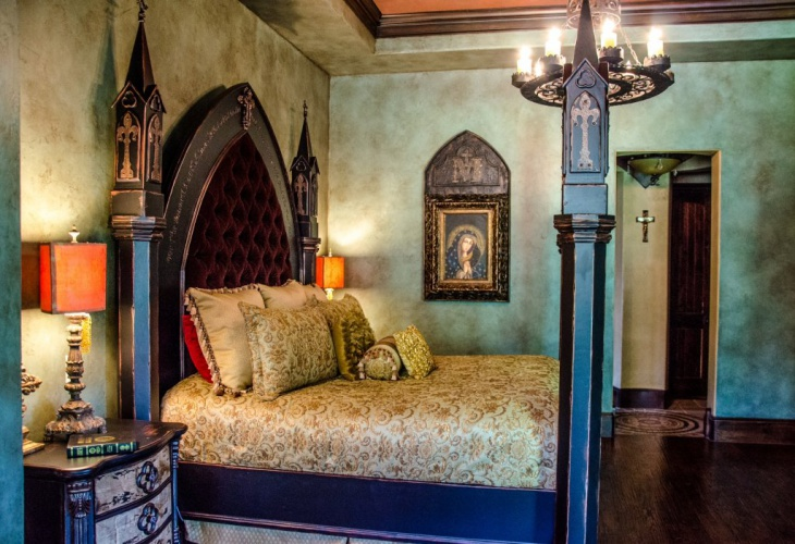 small gothic bedroom design