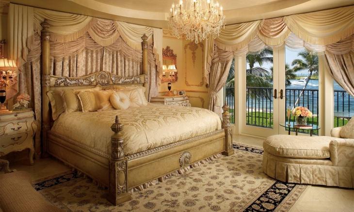 Golden Bedroom Interior Design