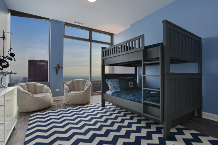 Modern Kids Bedroom with Bunk Beds