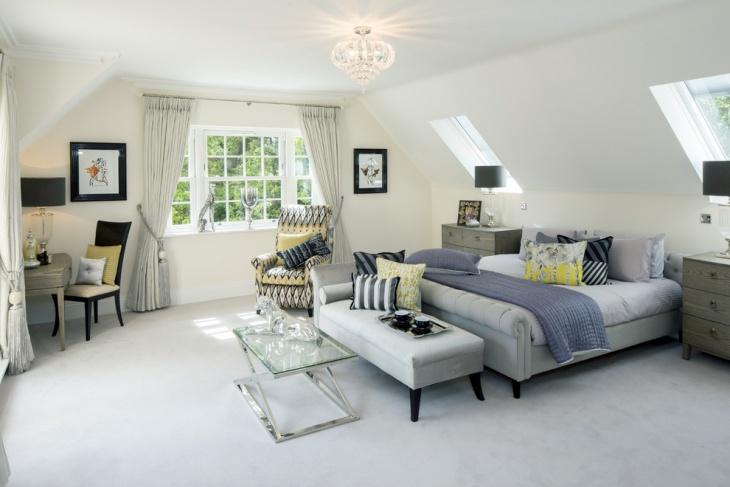 beautiful penthouse bedroom design