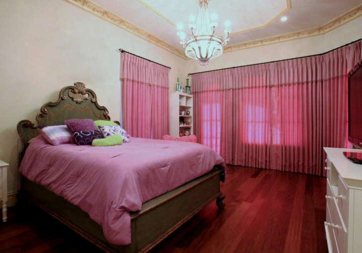 beautiful pink gothic bedroom