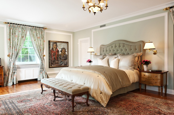 Traditional Bedroom with Wall Lamps