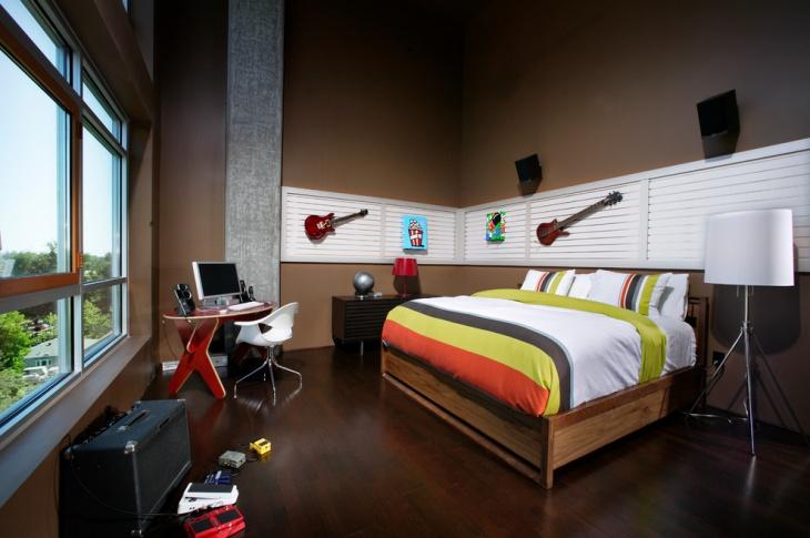 unique penthouse bedroom idea