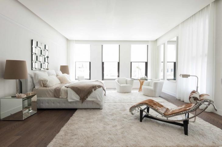 white cozy bedroom idea