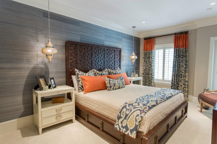 transitional guest house bedroom design