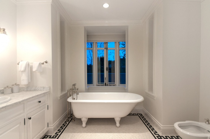simple bathroom floor design idea