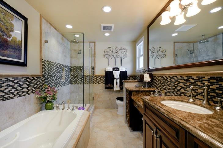 vintage style mosaic bathroom