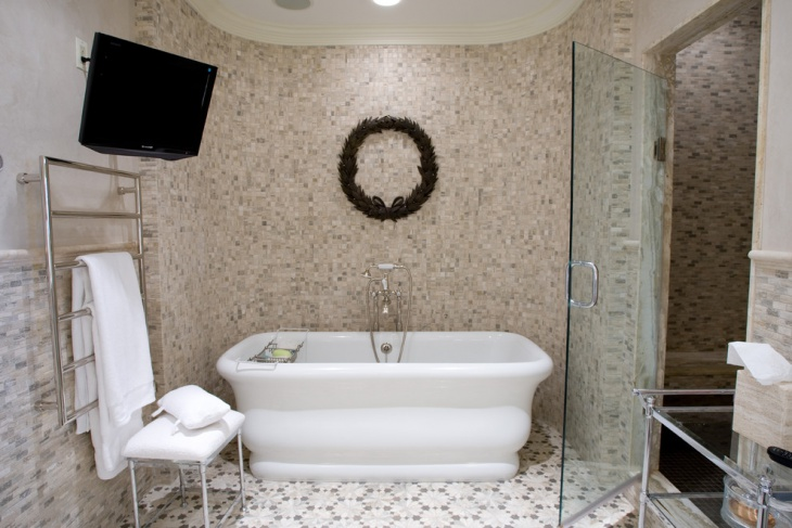 spring builders mosaic bathroom