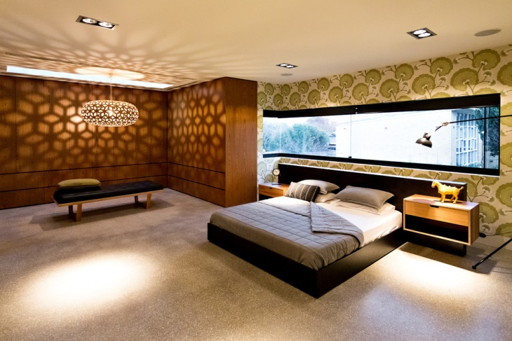 Luxurious Bedroom with Decorative Wall