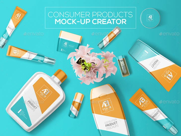 consumer products mock up