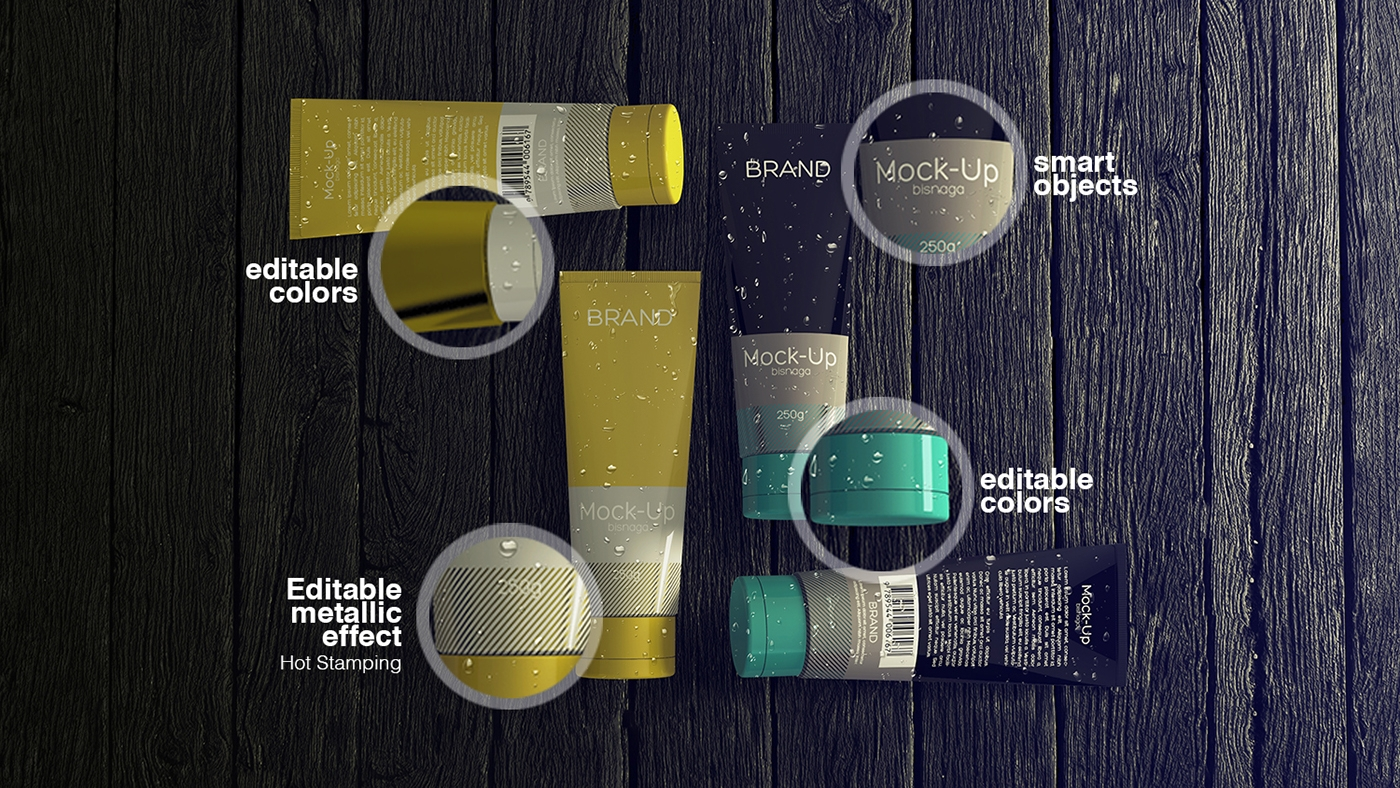 realistic cosmetics packaging
