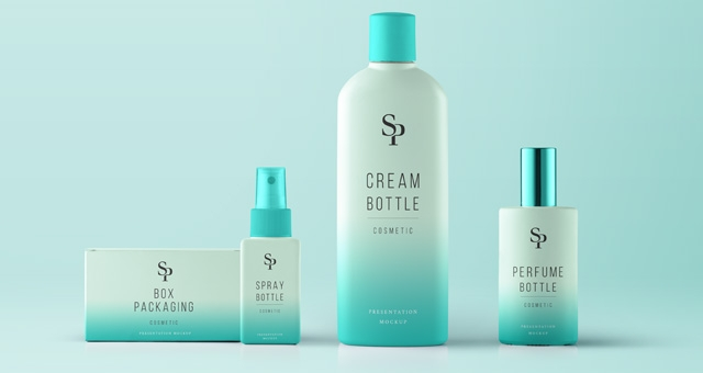 psd cosmetic packaging mockup