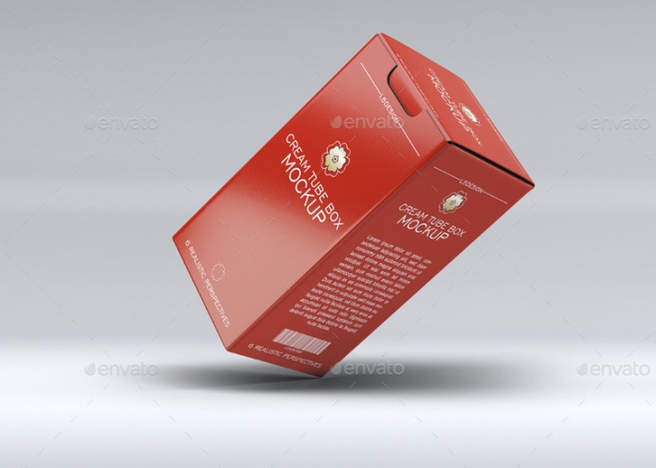 cosmetics tube box mock up