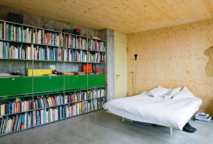 Amazing Bedroom with Book Shelves